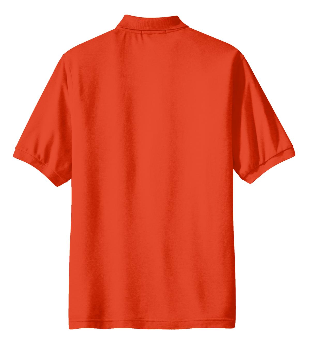 Mafoose Men's Silk Touch Polo with Pocket Orange-Back