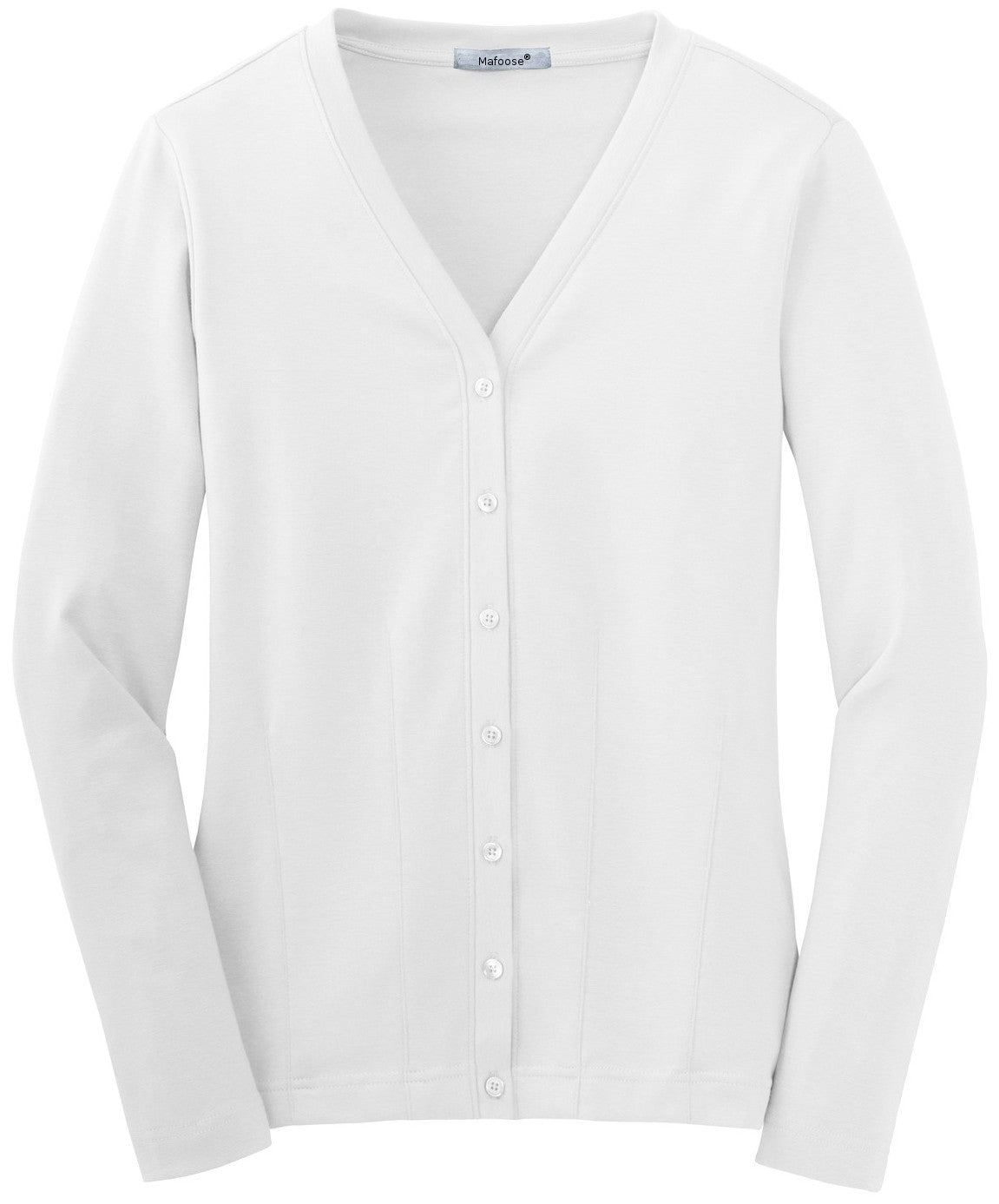 Mafoose Women's Stretch Cotton Cardigan White-Front