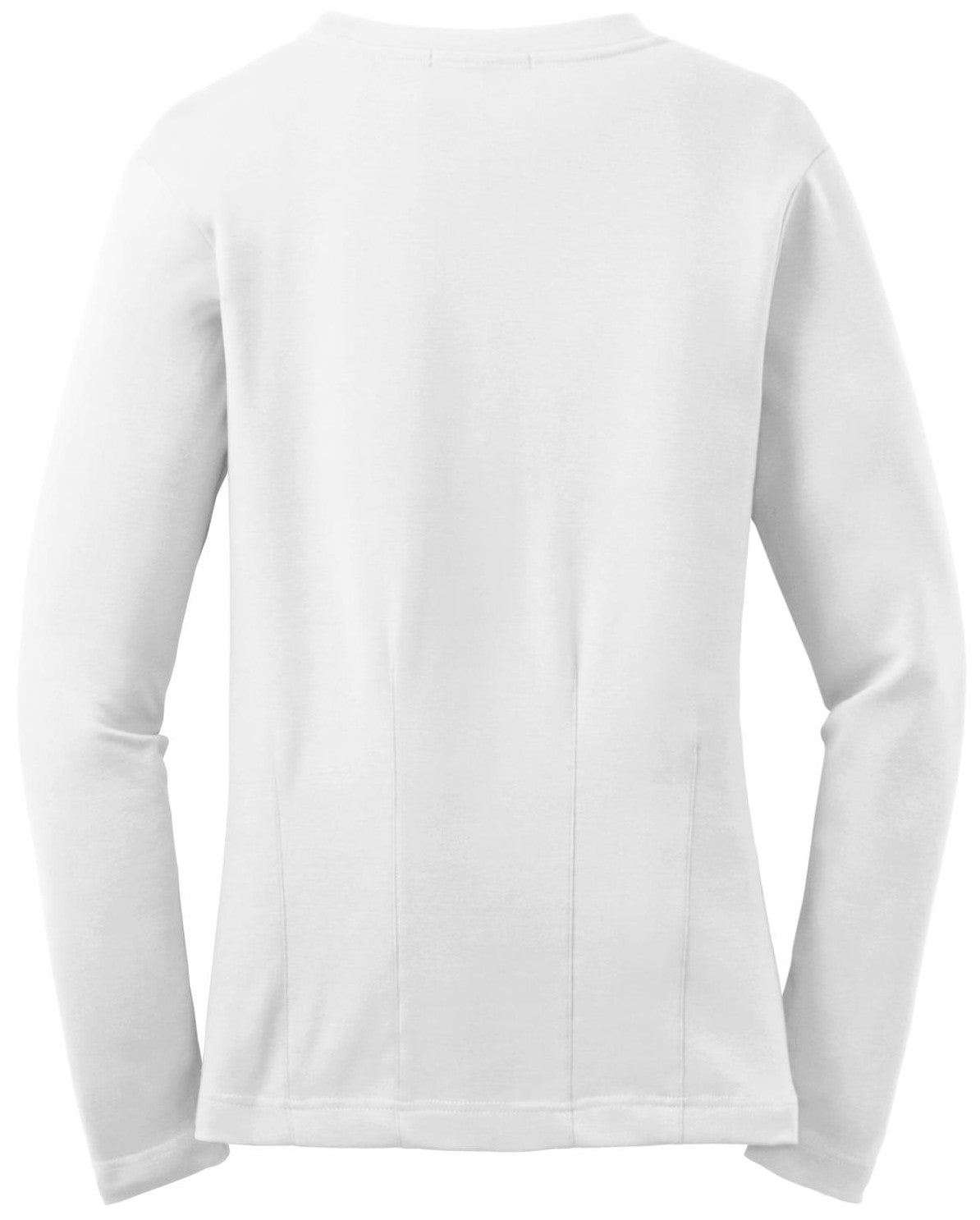 Mafoose Women's Stretch Cotton Cardigan White-Back