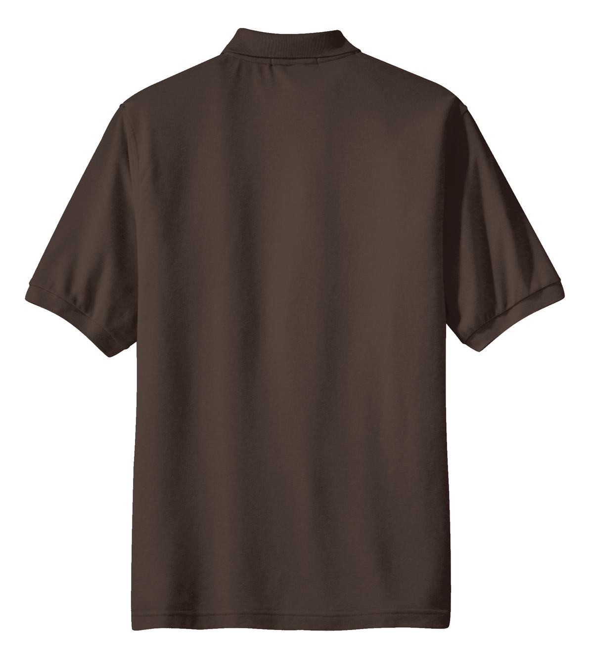 Mafoose Men's Silk Touch Polo with Pocket Coffee Bean-Back