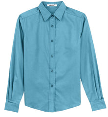 Mafoose Women's Long Sleeve Easy Care Shirt Maui Blue-Front