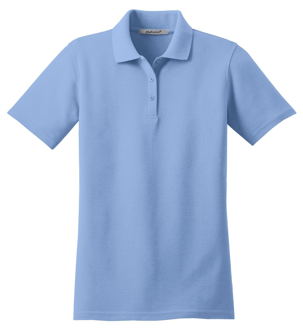 Mafoose Women's Stain Resistant Polo Shirt Light Blue-Front