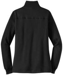 Mafoose Women's 1/4 Zip Sweatshirt Black-Back