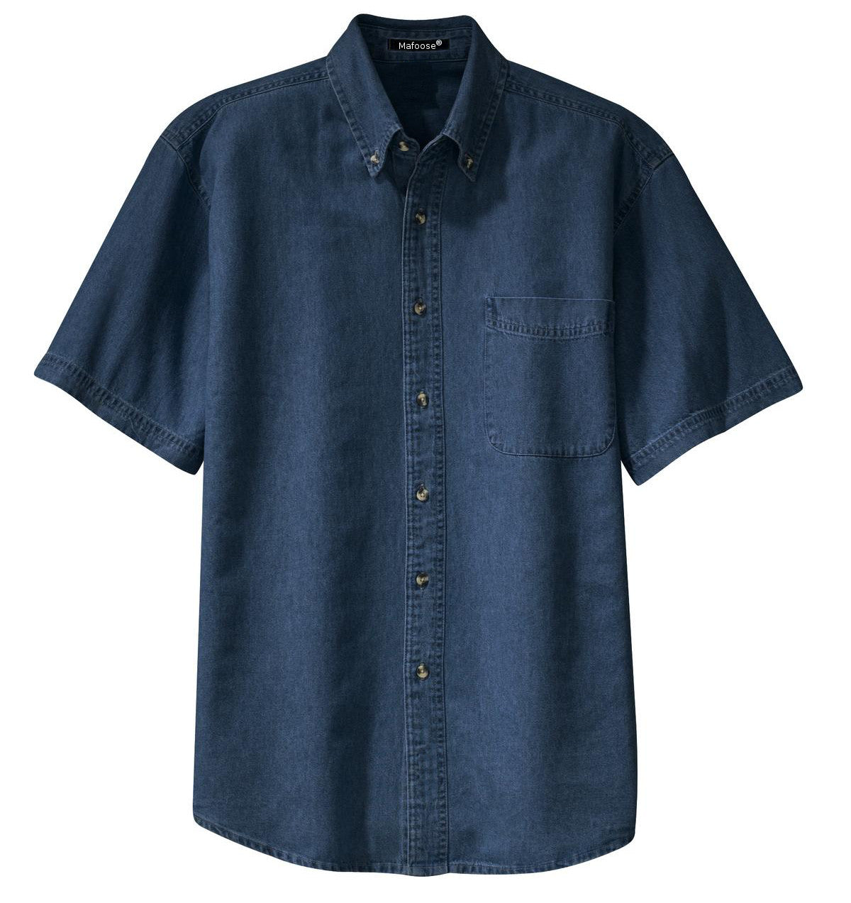 Mafoose Men's Short Sleeve Value Denim Shirt Ink Blue-Front