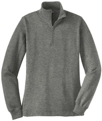 Mafoose Women's 1/4 Zip Sweatshirt Vintage Heather-Front