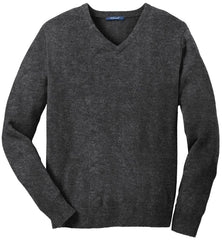 Mafoose Men's Value V-Neck Sweater Charcoal Grey-Front