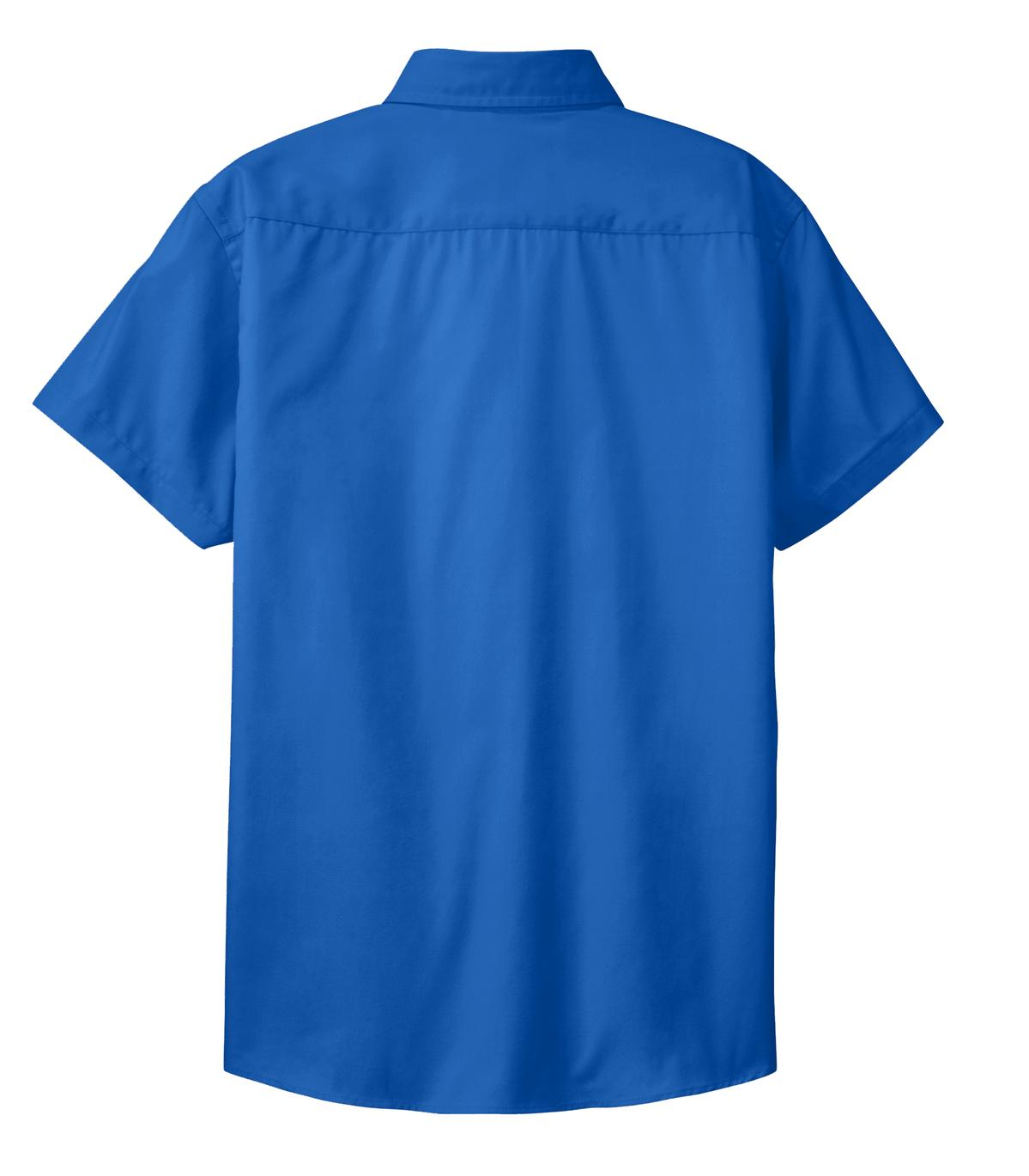 Mafoose Women's Comfortable Short Sleeve Easy Care Shirt Strong Blue-Back
