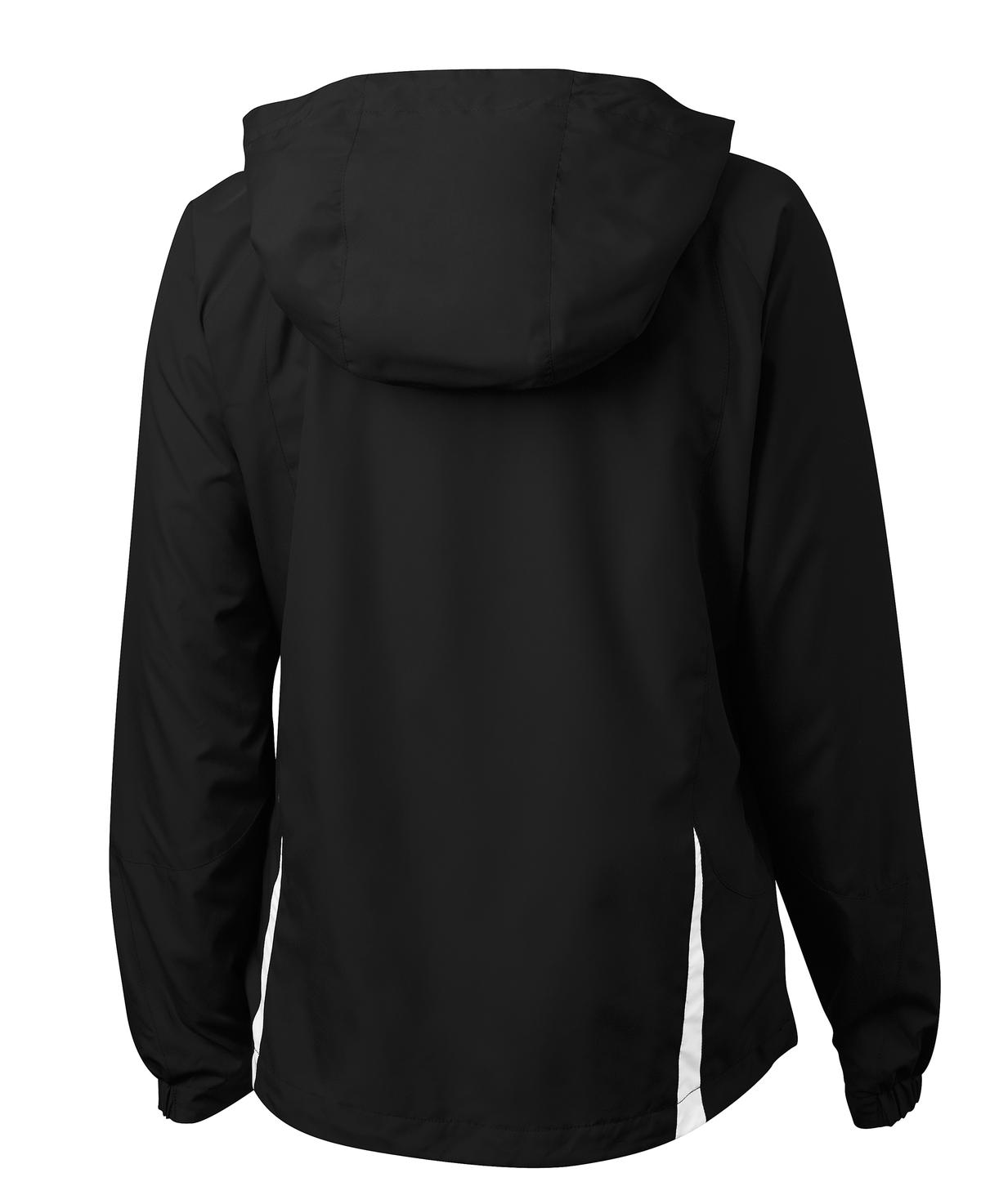 Mafoose Women's Colorblock Hooded Raglan Jacket Black/White-Back