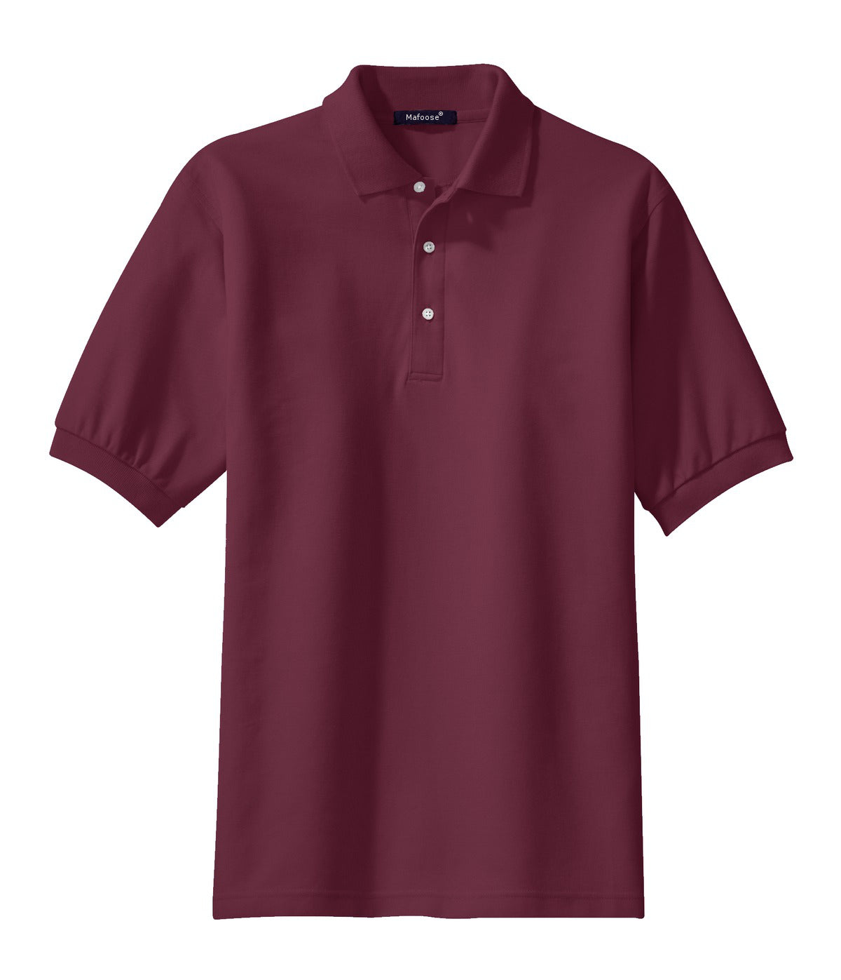 Mafoose Men's 100% Pima Cotton Polo Shirt Burgundy-Front