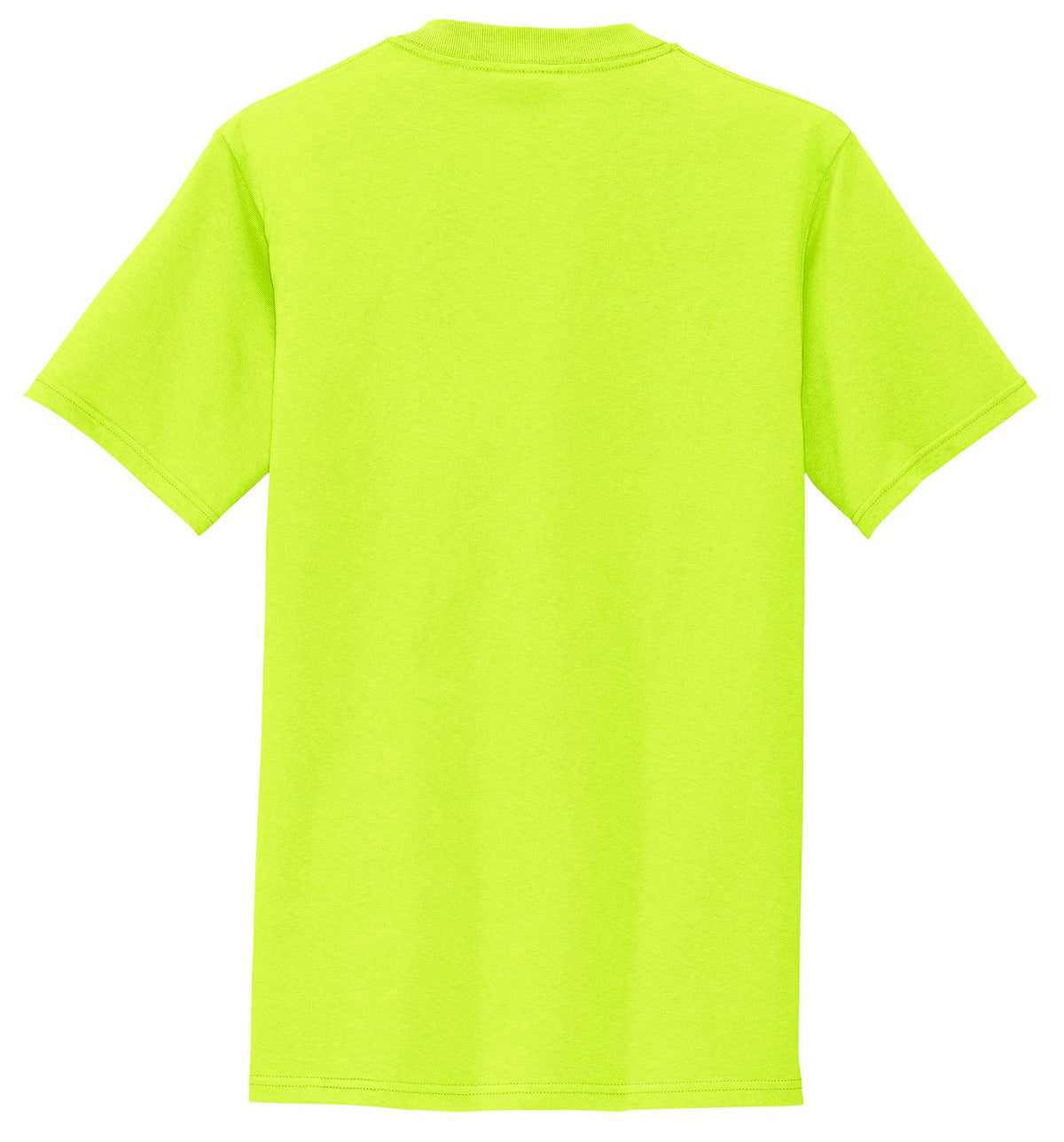Mafoose Men's All American Tee Shirt with Pocket Safety Green-Back
