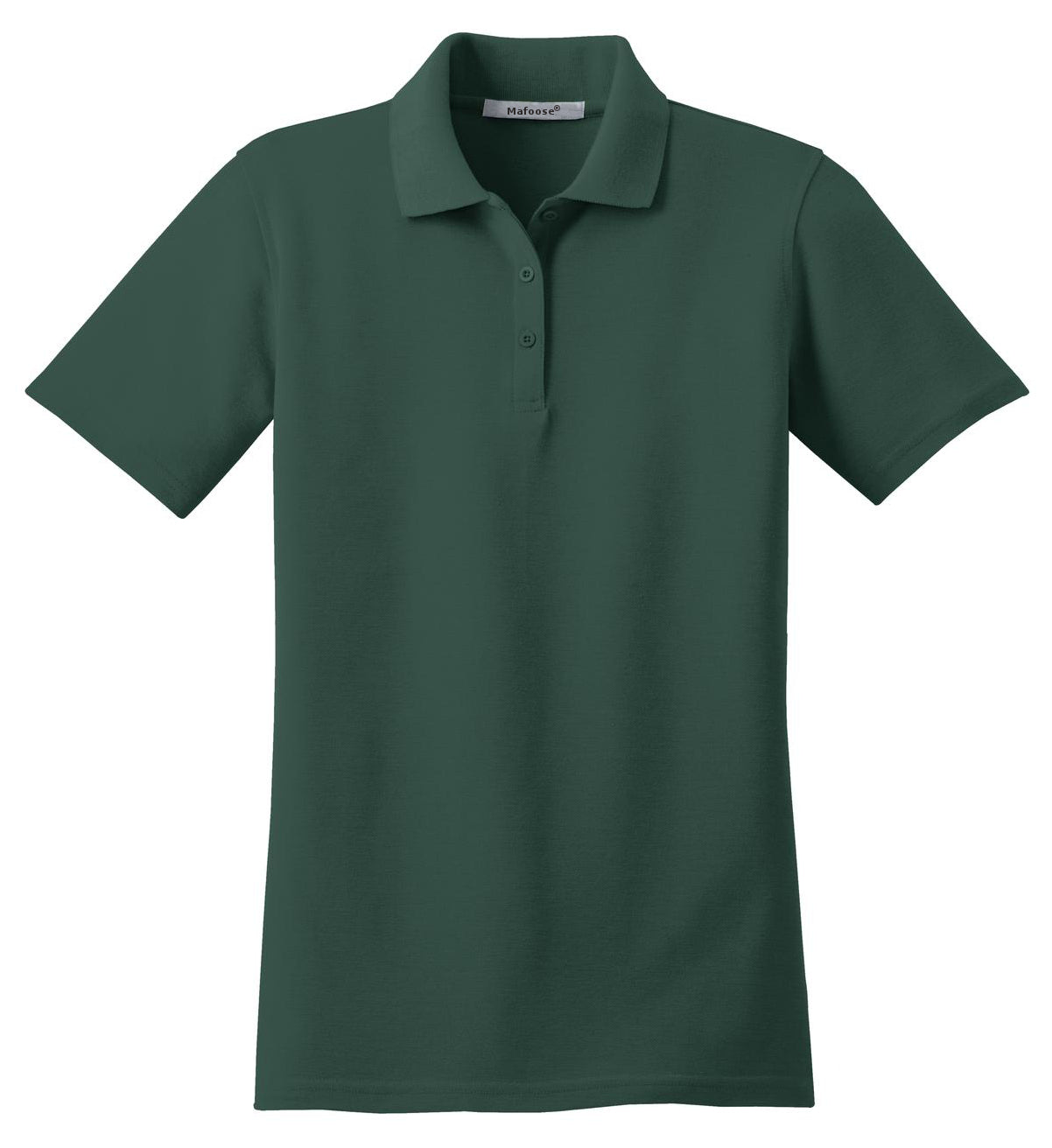 Mafoose Women's Stain Resistant Polo Shirt Dark Green-Front
