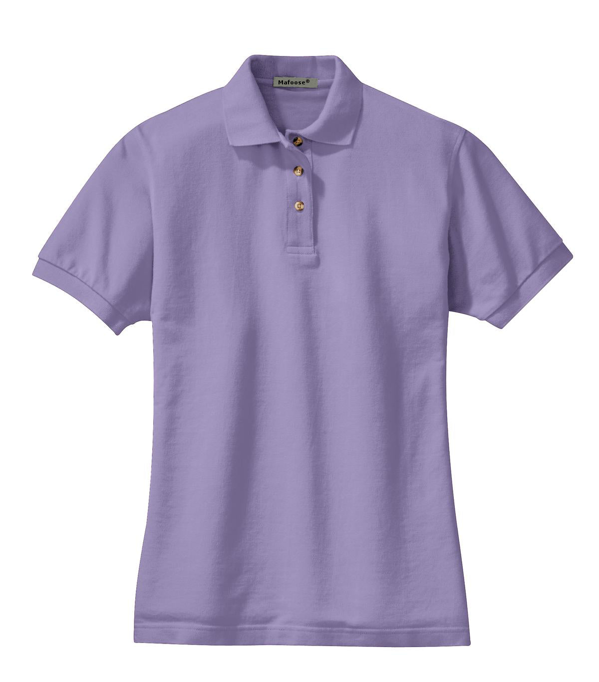 Mafoose Women's Heavyweight Cotton Pique Polo Shirt Lilac-Front