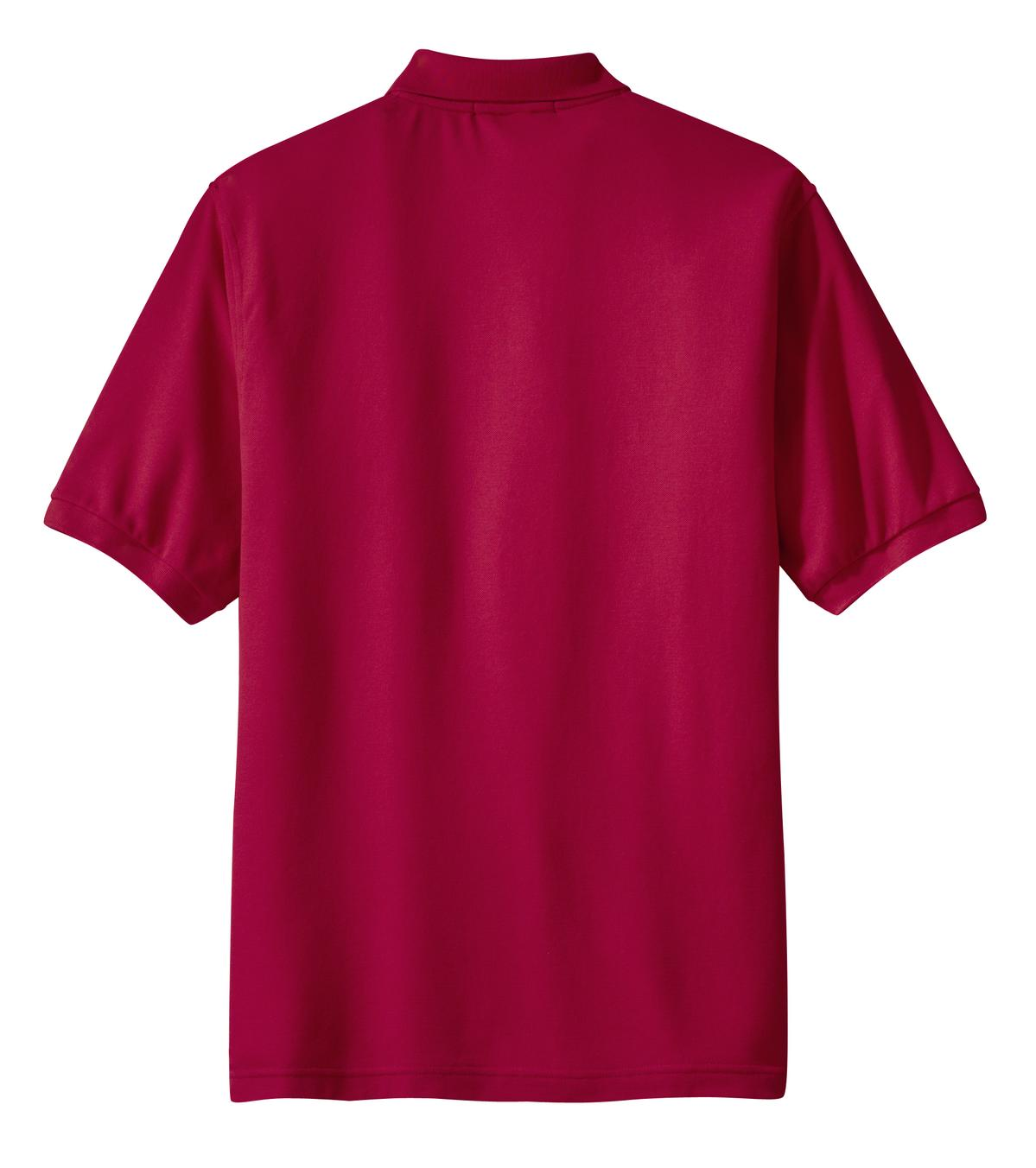 Mafoose Men's Silk Touch Polo with Pocket Red-Back