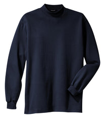 Mafoose Men's Interlock Knit Mock Turtleneck Sweaters Navy-Front