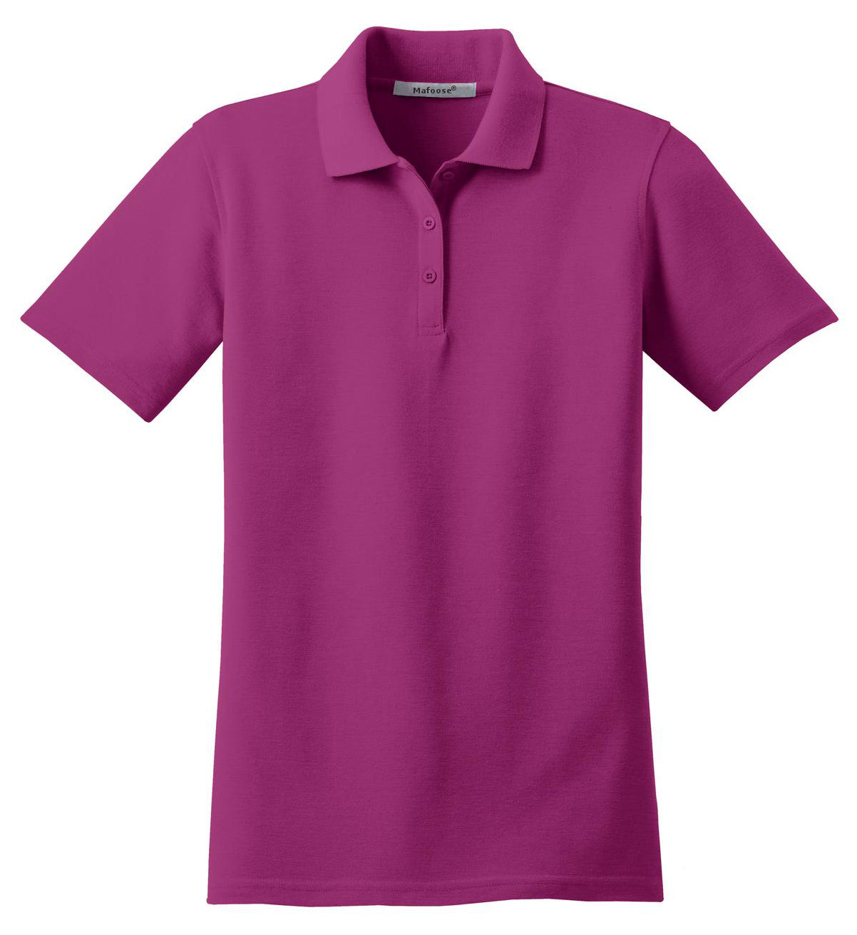 Mafoose Women's Stain Resistant Polo Shirt Boysenberry Pink-Front