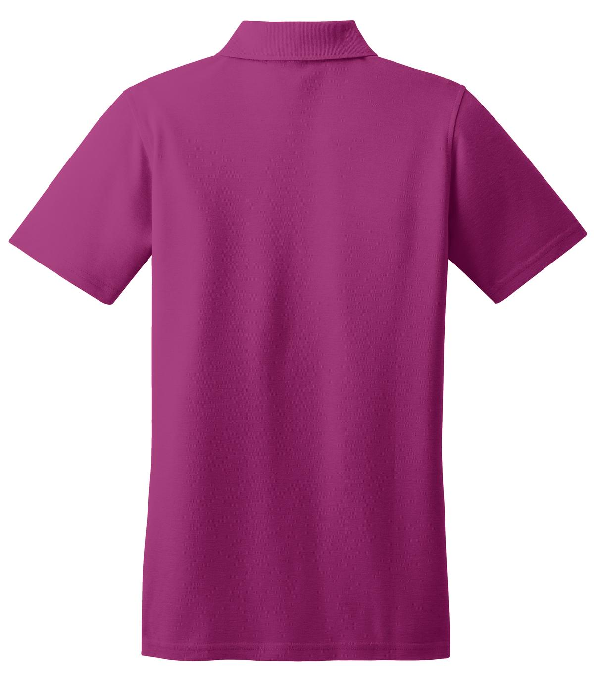 Mafoose Women's Stain Resistant Polo Shirt Boysenberry Pink-Back