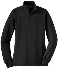 Mafoose Women's 1/4 Zip Sweatshirt Black-Front