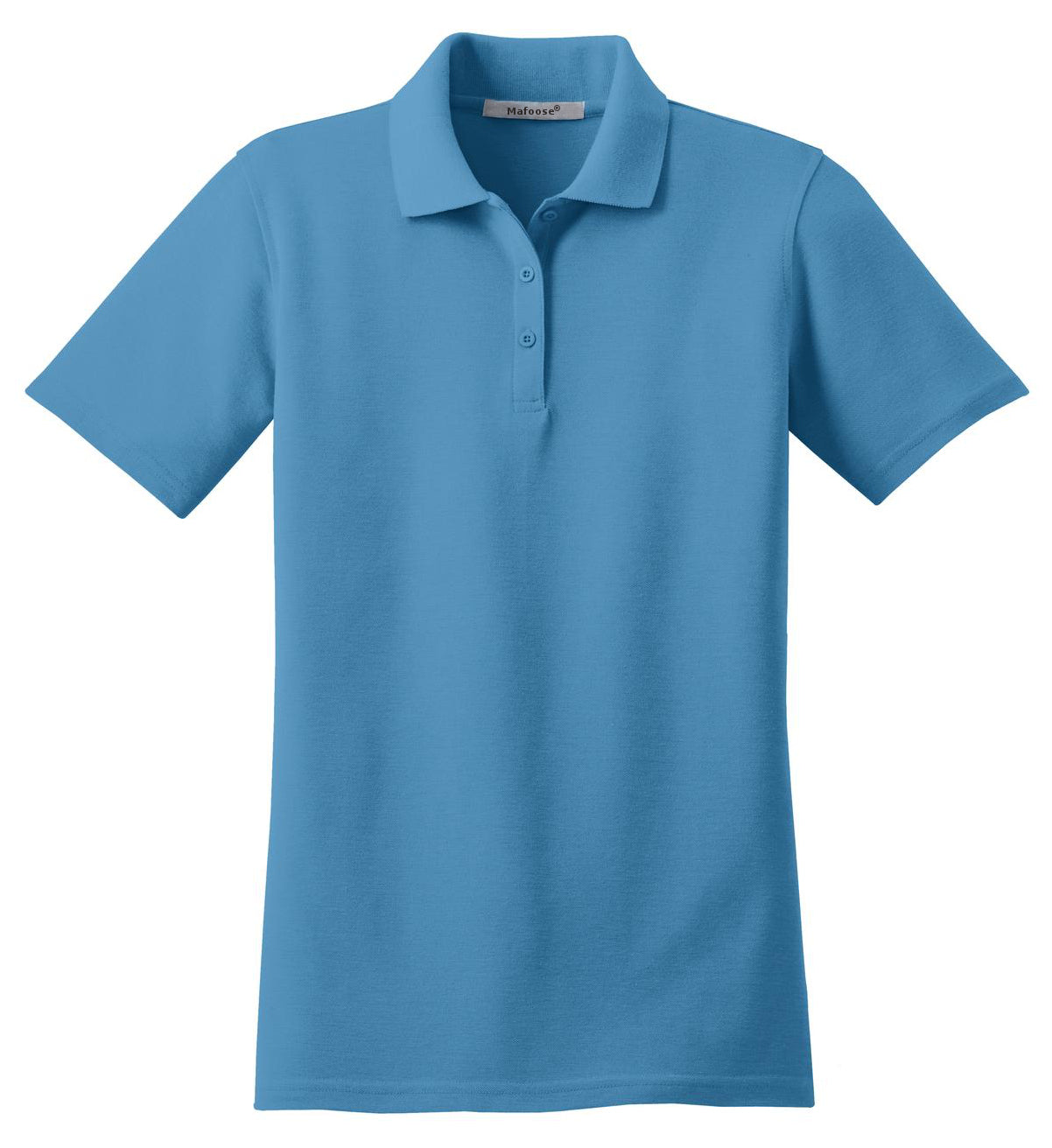 Mafoose Women's Stain Resistant Polo Shirt Celadon Blue-Front