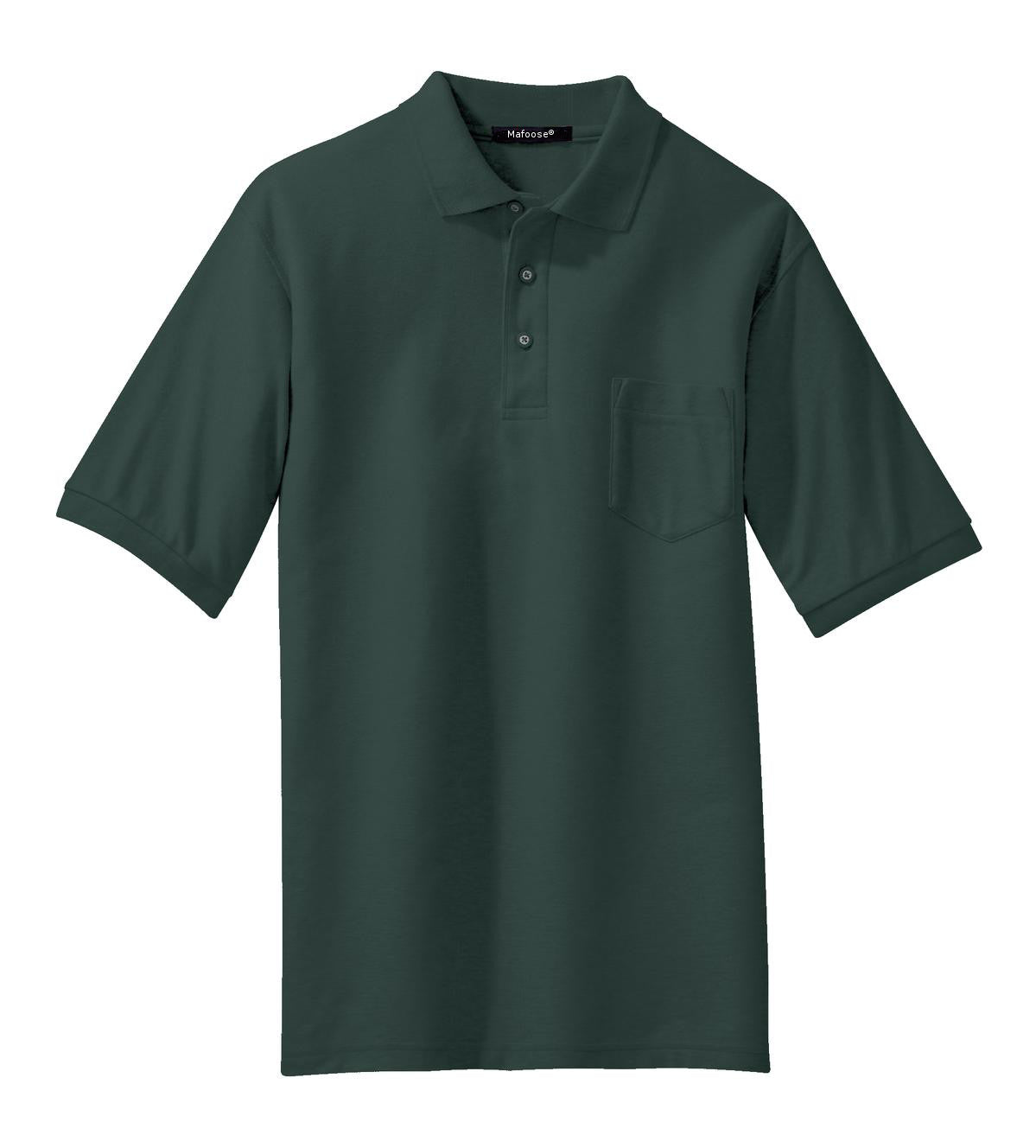 Mafoose Men's Silk Touch Polo with Pocket Dark Green-Front