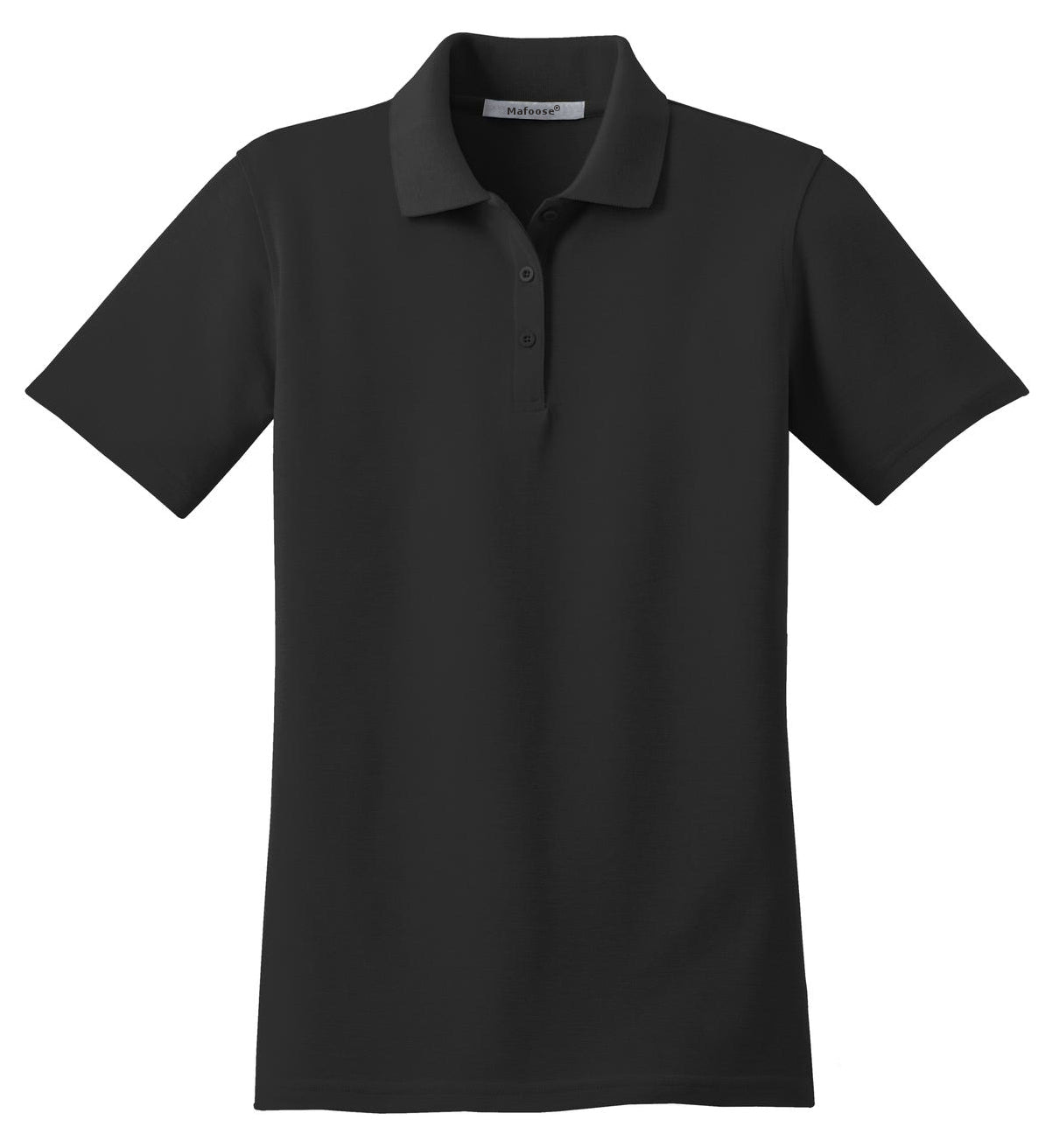 Mafoose Women's Stain Resistant Polo Shirt Black-Front