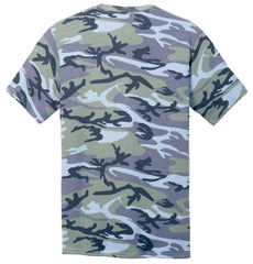 Mafoose Men's 5.4-oz 100% Cotton Tee Shirt Woodland Blue Camo-Back