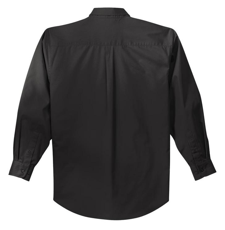 Mafoose Men's Tall Long Sleeve Easy Care Shirt Black/ Light Stone-Back