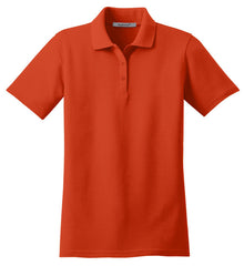 Mafoose Women's Stain Resistant Polo Shirt Autumn Orange-Front