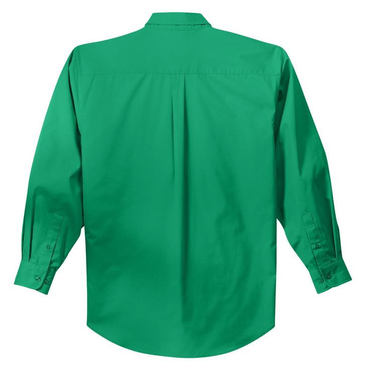 Mafoose Men's Tall Long Sleeve Easy Care Shirt Court Green-Back