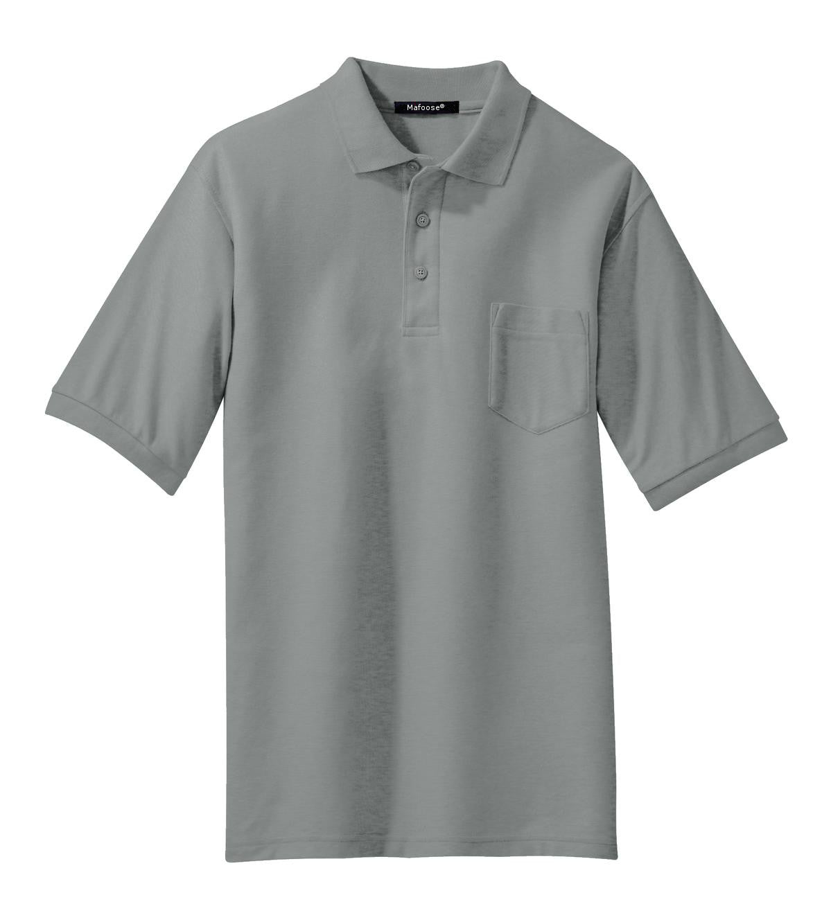 Mafoose Men's Silk Touch Polo with Pocket Cool Grey-Front