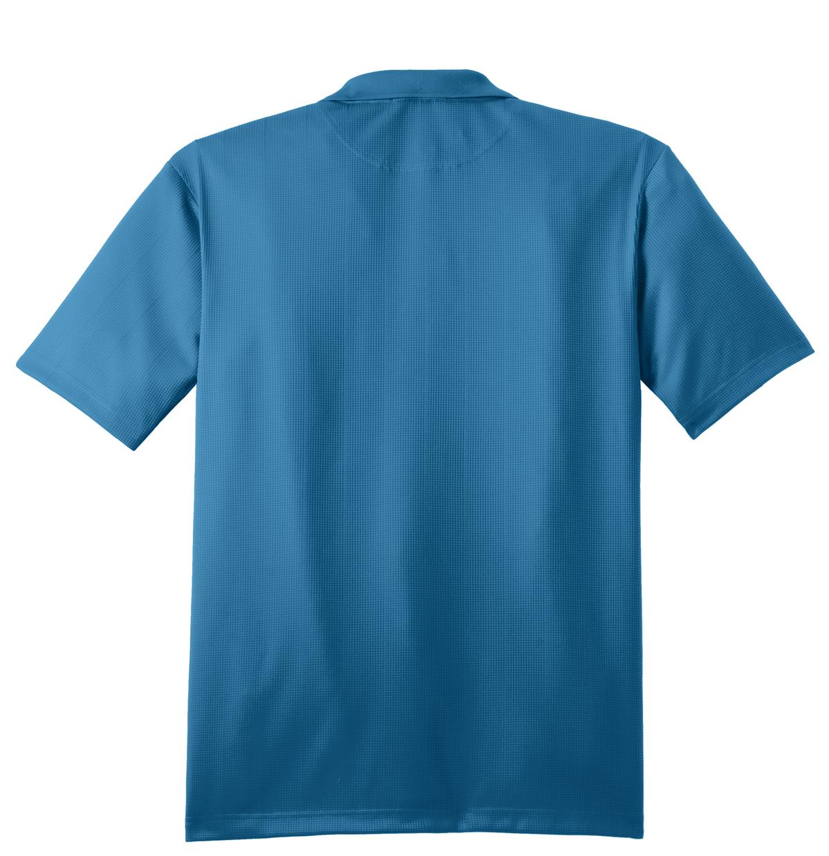 Mafoose Men's Performance Fine Jacquard Polo Ocean Blue-Back