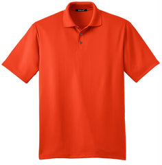 Mafoose Men's Performance Fine Jacquard Polo Autumn Orange-Front