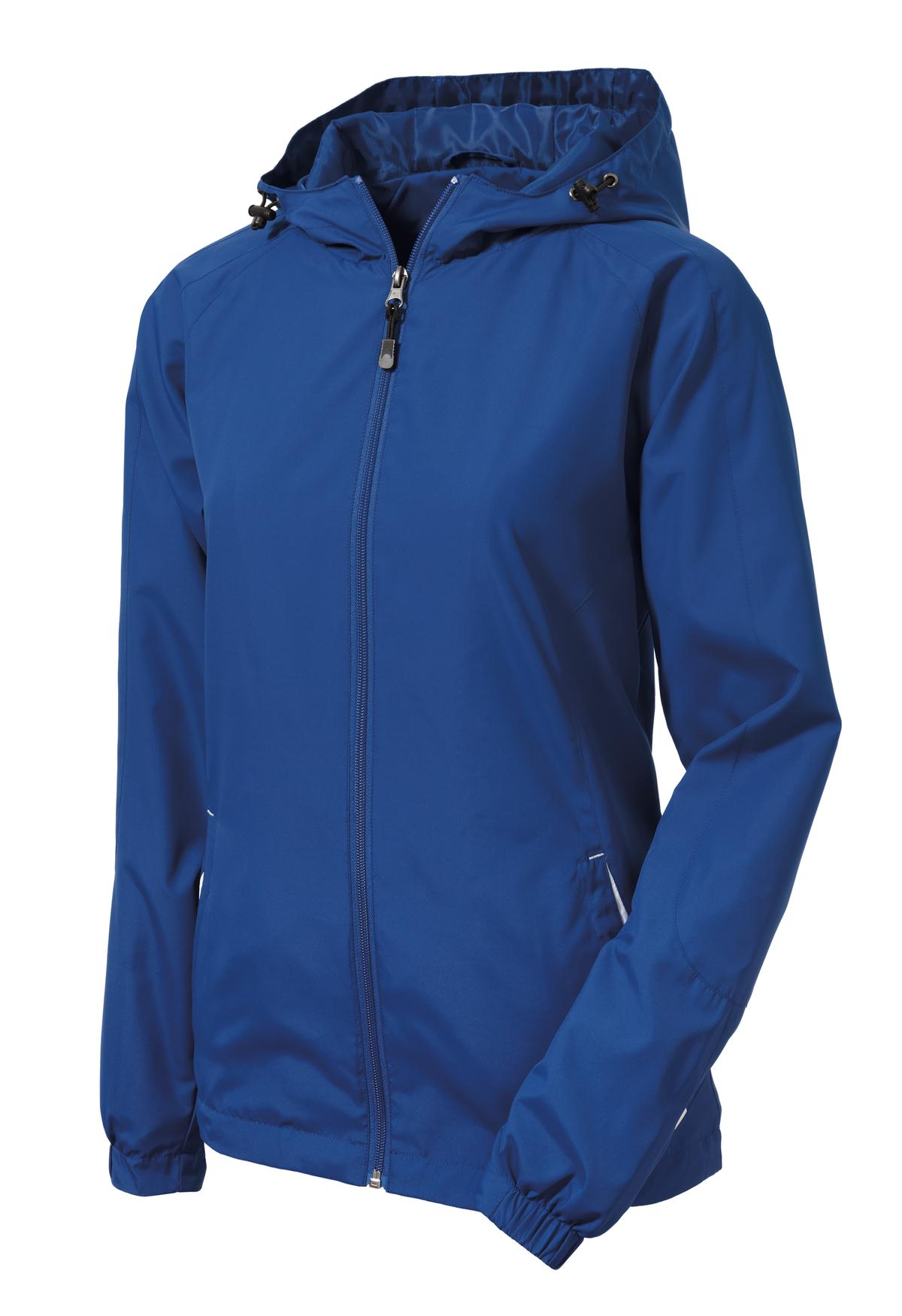 Mafoose Women's Colorblock Hooded Raglan Jacket True Royal/White-Front
