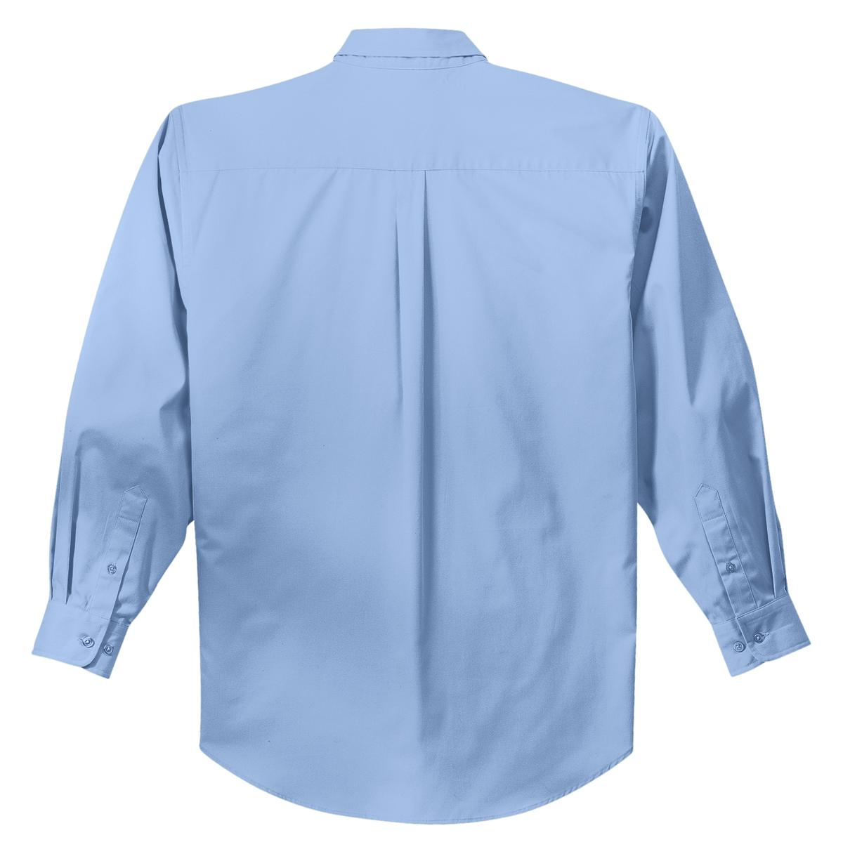 Mafoose Men's Tall Long Sleeve Easy Care Shirt Light Blue/ Light Stone-Back