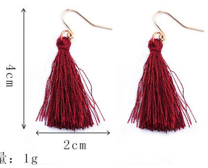"""TASSEL"" EARRINGS"