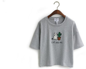 Cat and me T shirt