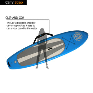 JLF 10 Ft Inflatable Stand Up Paddle Board (SUP) Sit-On-Top Kayak Set | Includes: Paddleboard Convertible Paddle, Detachable Kayak Seat, Carry Strap, Dual Action Hand Pump, Leash, Backpack