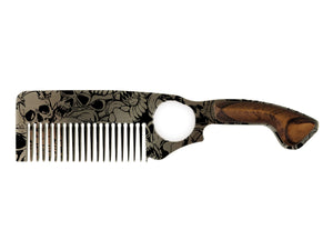 Premium Hair Comb No.2 – Skulls - Bisson Combs