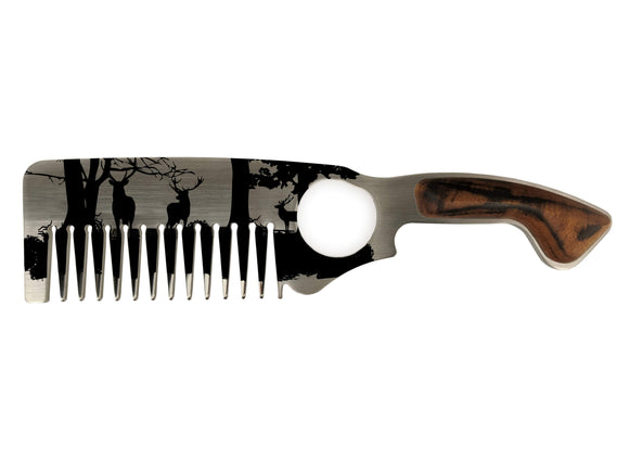 Premium Hair & Beard Comb No.2 Deer - Bisson Combs