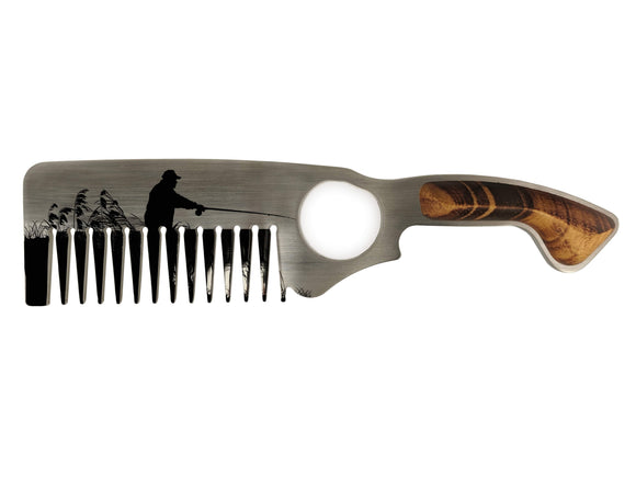 Premium Hair & Beard Comb No.2 – Fisherman - Bisson Combs