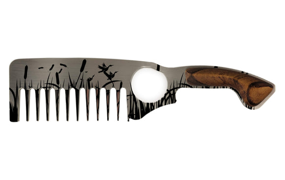 Premium Thick Beard Comb No.2 – Duck - Bisson Combs