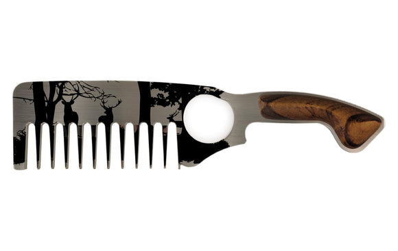 Premium Thick Beard Comb No.2 – Deer - Bisson Combs