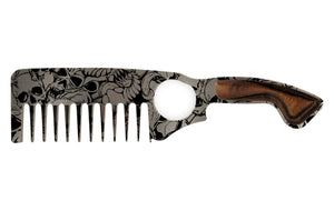 Premium Thick Beard Comb No.2 – Skulls - Bisson Combs