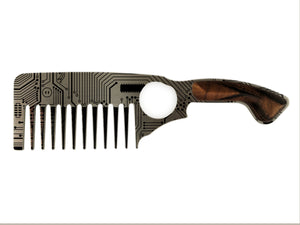 Premium Thick Beard Comb No.3 – Circuit - Bisson Combs