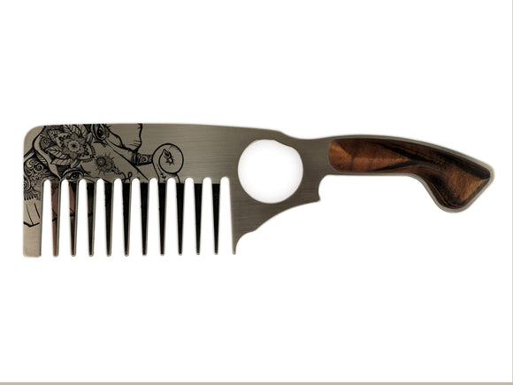 Premium Thick Beard Comb No.3 – Elephant - Bisson Combs