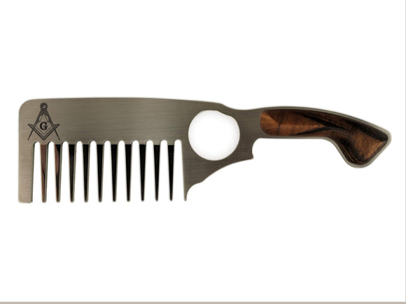 Premium Thick Beard Comb No.3 – Freemason - Bisson Combs