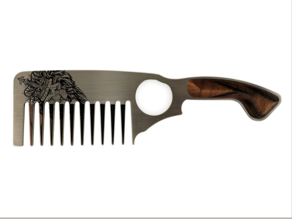 Premium Thick Beard Comb No.3 – Lion - Bisson Combs