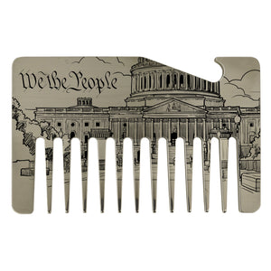 Premium Wallet Beard Comb – We the People - Bisson Combs