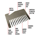 Premium Wallet Beard Comb – Viking - Bisson Combs