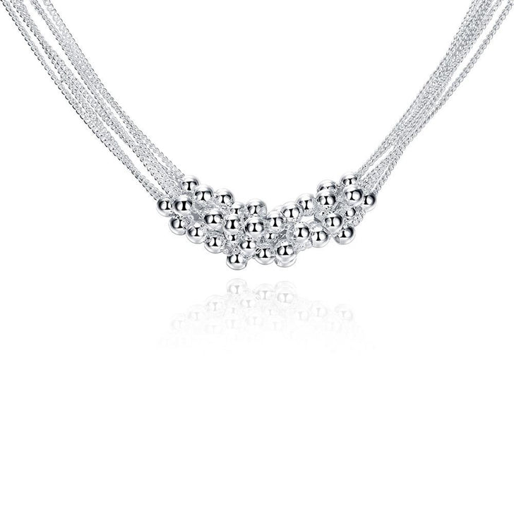 Bubble Necklace in 18K White Gold Plated