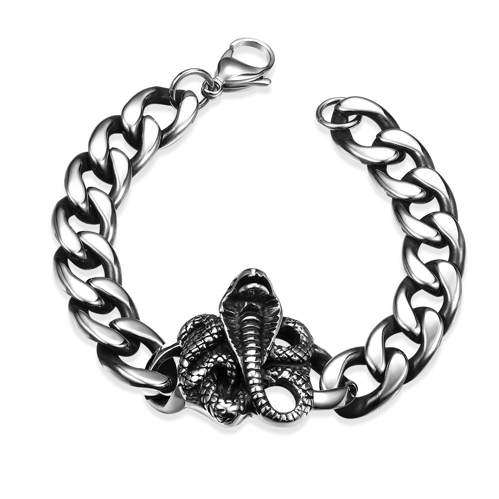 Rose Emblem Stainless Steel Bracelet